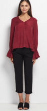 Haylen Cupro Blouse Berry