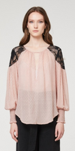 Mayfair Lace Shoulder Silk Jacquard Chiffon