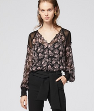 SELINE PLEAT SLEEVE VISCOSE CHIFFON BLOUSE