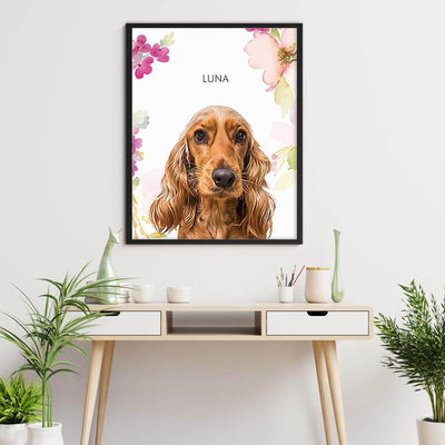 Custom pet Framed Prints