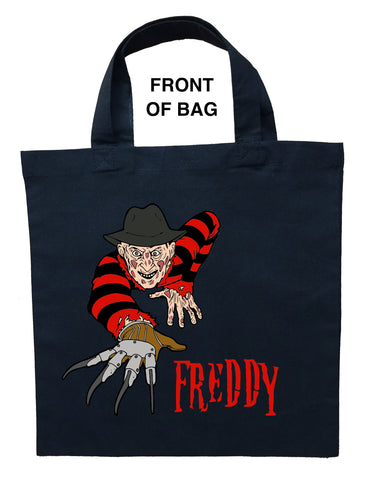 Freddy Krueger Trick or Treat Bag, Personalized Freddy Krueger Halloween Bag, Freddy Krueger Loot Bag