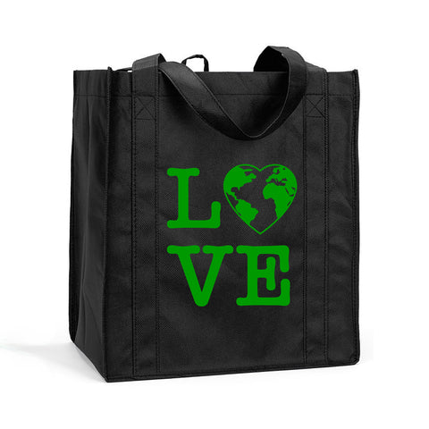 I Love the Earth Shopping Tote, I Love the Earth Grocery Bag, I Love the Earth Resusable Shopping Bag, I Love the Earth Resusable Bag, I Love the Earth Resusable Tote