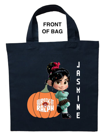 Vanellope Trick or Treat Bag, Personalized Vanellope Halloween Bag, Vanellope Loot Bag