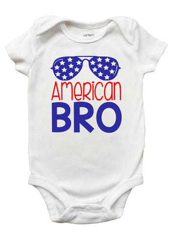 4th of July Shirt for Boys, American Bro Shirt, 4th of July Shirt for Kids