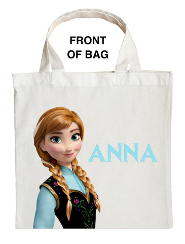 Anna Trick or Treat Bag, Personalized Anna Halloween Bag, Double Sided Frozen Halloween Bag