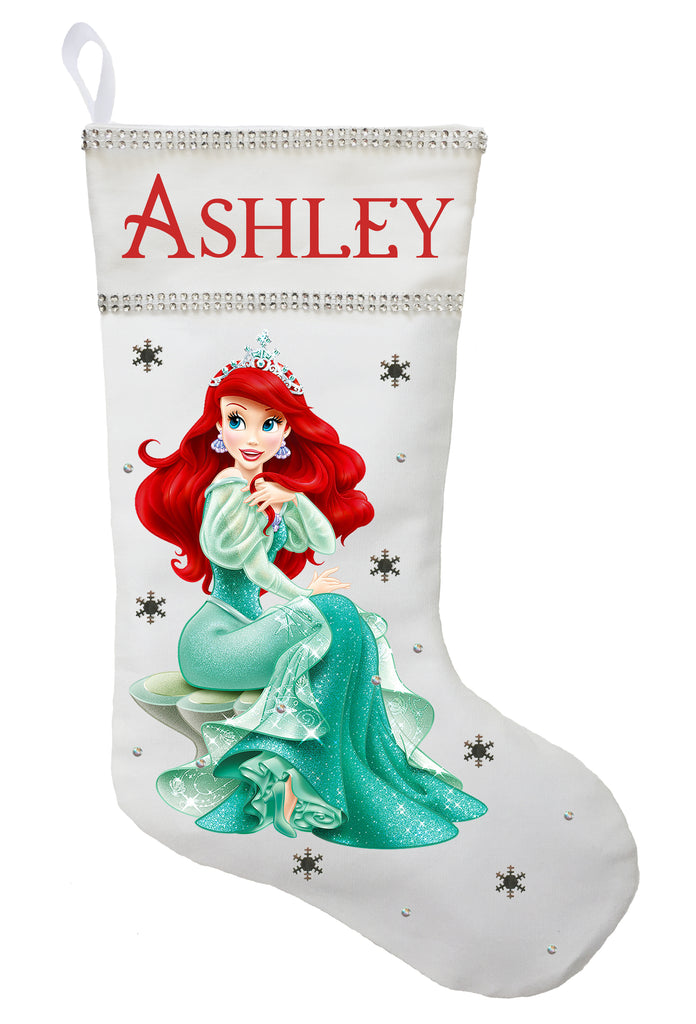 Mermaid Christmas Stocking.Ariel Christmas Stocking Personalized And Hand Made The Little Mermaid Christmas Stocking