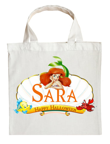 Ariel Trick or Treat Bag - Personalized Ariel The Little Mermaid Halloween Bag