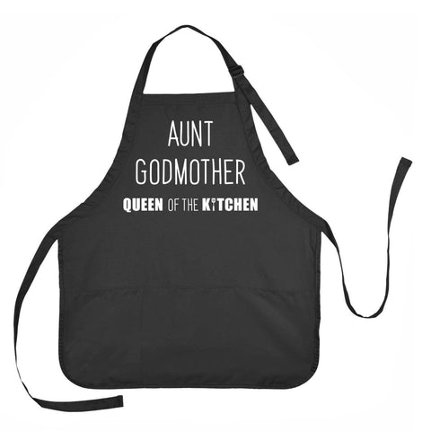 Aunt, GodMother, Queen of the Kitchen Apron, Apron for Godmother, Godmother Gift, Aunt Godmother Apron