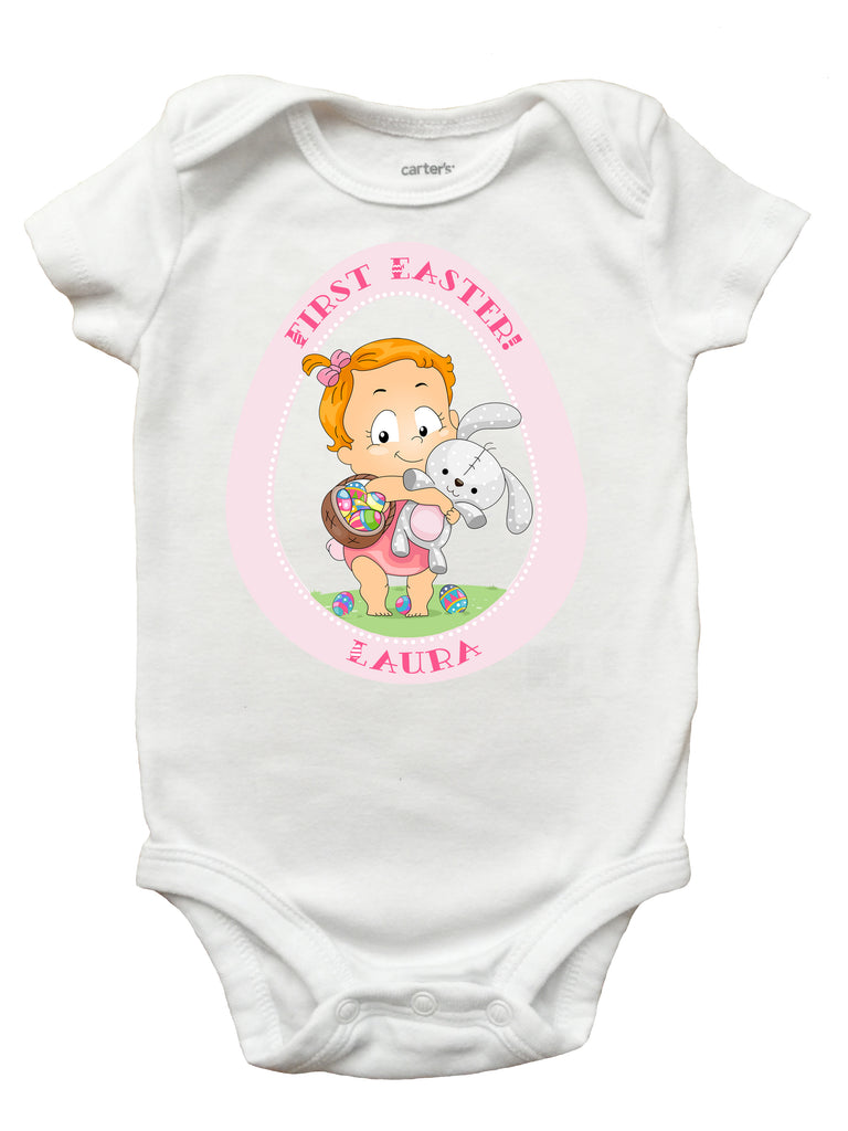 e11f8510cb5f My First Easter Shirt, My First Easter Onesie, Personalized First Easter  Shirt for Boys