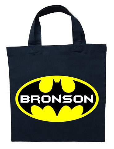 Batman Trick or Treat Bag - Personalized Batman Halloween Bag