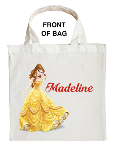 Belle Trick or Treat Bag - Personalized Beauty and the Beast Halloween Bag