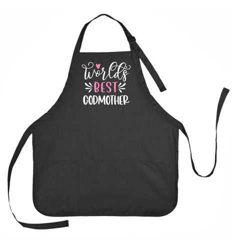 Worlds Best Godmother Apron, Worlds Best Godmother Apron, Worlds Best Godmother Apron, Gift for Godmother