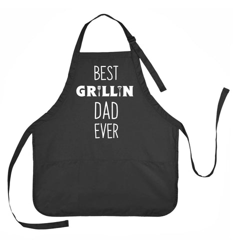 Father's Day Apron, Best Grillin Dad Ever Apron, Dad's Grilling Apron
