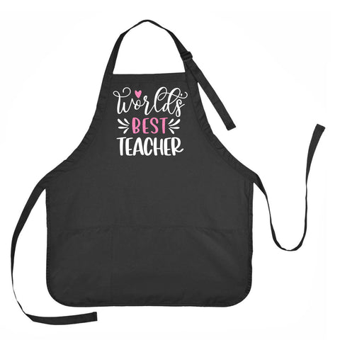 Worlds Best Teacher Apron, Worlds Best Teacher Gift, Gift for Teacher, Best Teacher Apron, Apron for Teacher