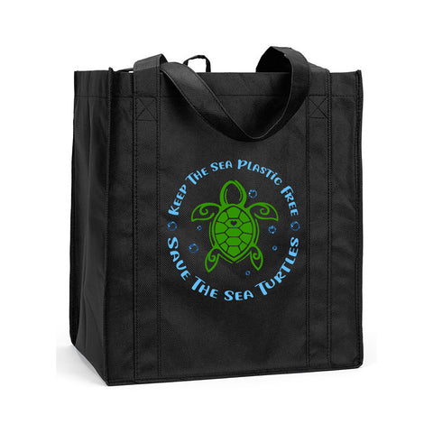 Reusable Save a Turtle Shopping Bag, Sea Turtle Grocery Bag, Save the Sea Turtles Shopping Bag, Reusable Sea Turtle Grocery Bag