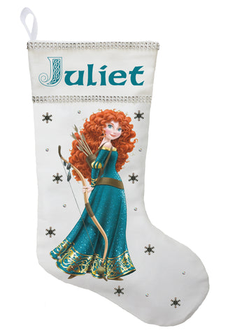 Princess Merida Christmas Stocking - Personalized and Hand Made Brave Christmas Stocking