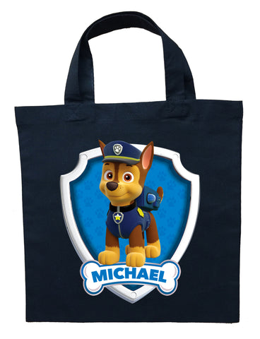 Paw Patrol Chase Trick or Treat Bag - Personalized Paw Patrol Chase Halloween Bag