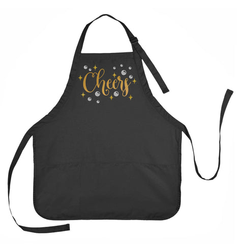 Party Apron, Cheers Apron, New Years Eve Apron, Celebration Apron