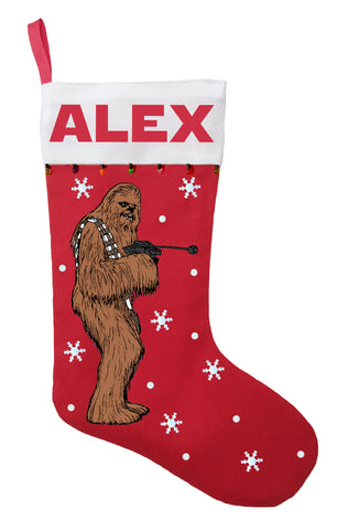 Chewbacca Christmas Stocking - Personalized and Hand Made Chewbacca Christmas Stocking