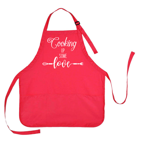 Valentines Day Apron, Valentines Apron, Cooking Up Some Love Apron
