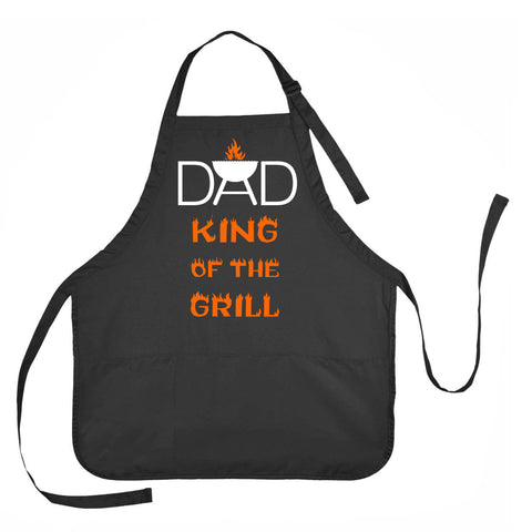 Dad King of the Grill Apron, Pa Pa King of the Grill Apron, Fathers Day Apron, Grilling Apron