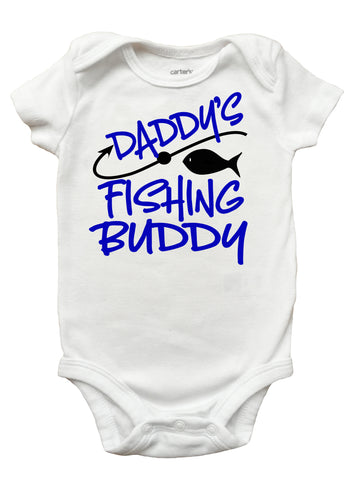 Daddy's Fishing Buddy Shirt, Fathers Day Shirt for Boys, Fishing Fathers Day Shirt