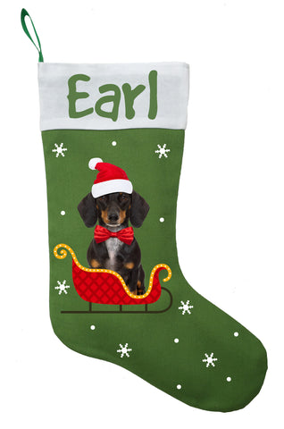 Dachshund Christmas Stocking, Personalized Dachshund Stocking, Sausage Dog Christmas Stocking, Wiener Dog Christmas Stocking