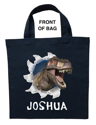 Dinosaur Trick or Treat Bag - Personalized Dinosaur Halloween Bag