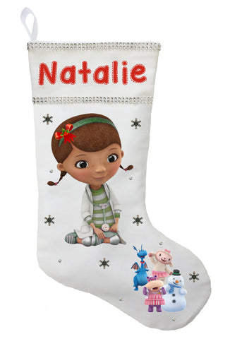 Doc McStuffins Christmas Stocking - Personalized and Hand Made Doc McStuffins Christmas Stocking