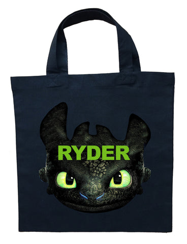 Toothless Trick or Treat Bag - Personalized How to Train Your Dragon Halloween Bag