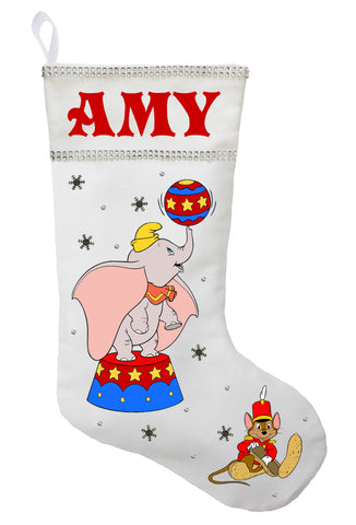 Dumbo Christmas Stocking - Personalized and Hand Made Dumbo Christmas Stocking