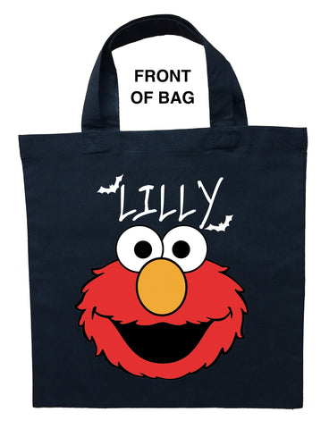 Elmo Trick or Treat Bag - Personalized Elmo Halloween Bag