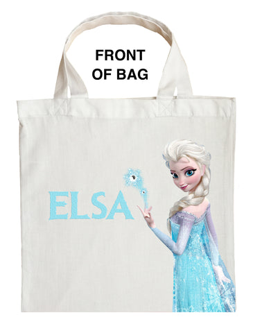 Elsa Trick or Treat Bag, Personalized Elsa Halloween Bag, Elsa Loot Bag, Elsa Candy Bag, Frozen Halloween Bag
