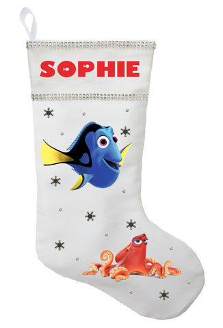 Finding Dory Christmas Stocking - Personalized and Hand Made Finding Dory Christmas Stocking