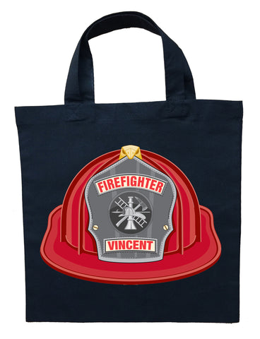 Fire Fighter Trick or Treat Bag - Personalized Fireman Halloween Bag