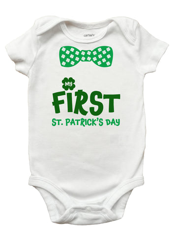 My First St Patricks Day Romper, My First St Patricks Day Shirt for Boys, Boys First St Patricks Day Shirt