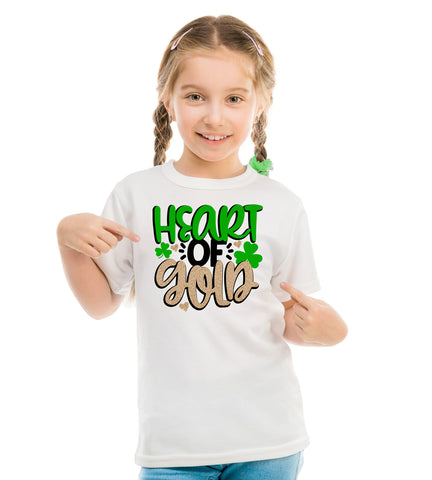 Heart of Gold Children's Shirt, St. Patricks Day Heart of Gold Shirt