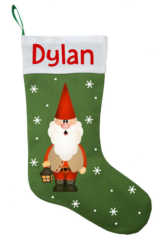 Gnome Christmas Stocking - Personalized and Hand Made Gnome Tomte Stocking