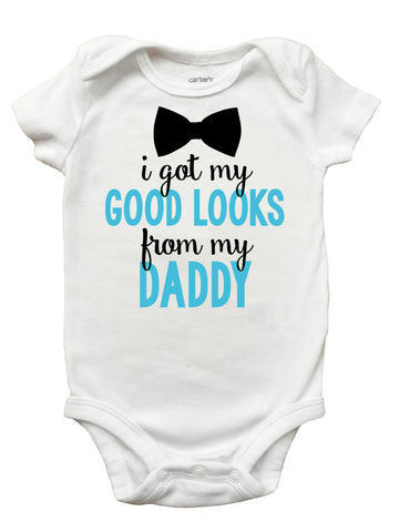 I Got My Good Looks From Daddy Shirt, Fathers Day Shirt for Boys, Boys Fathers Day Shirt
