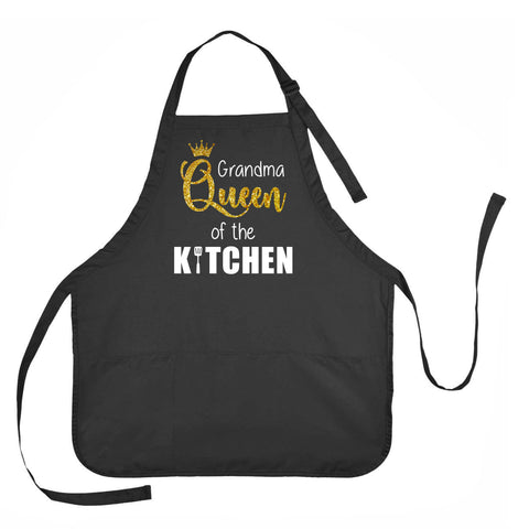 Grandma Queen of the Kitchen Apron, Grandma Queen of the Kitchen Gift, Mother's Day Apron, Apron Gift for Grandma, Grandma Queen of the Kitchen Cooking Apron