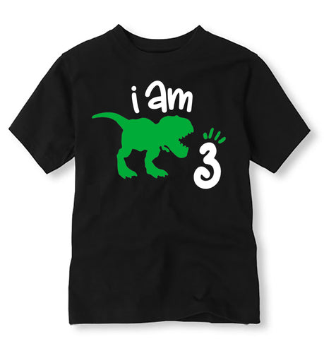 Dinosaur Birthday Shirt, Personalized Dinosaur Birthday Shirt with Age