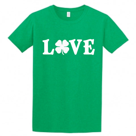 Irish Love Children's Shirt, Shamrock Love Shirt for Kids