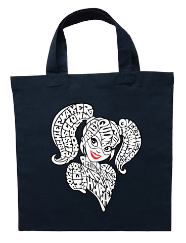 Harley Quinn Trick or Treat Bag - Personalized Harley Quinn Halloween Bag