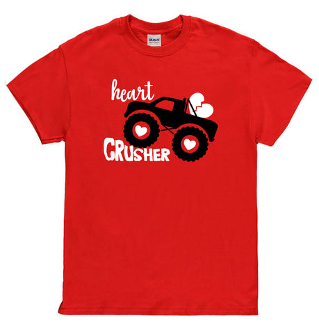 Heart Crusher Valentines Day Shirt, Boys Valentines Day Shirt, Heart Crusher Shirt, Valentines Shirt for Boys