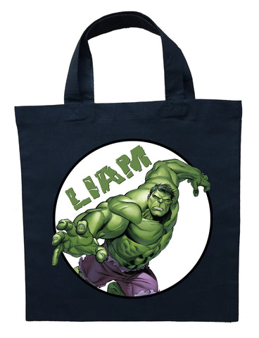 Incredible Hulk Trick or Treat Bag - Personalized Incredible Hulk Halloween Bag