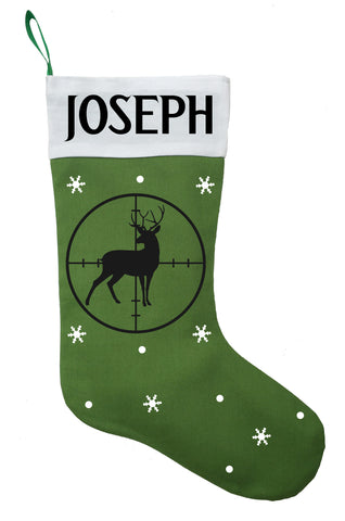 Hunting Christmas Stocking, Custom Hunting Stocking, Personalized Hunting Stocking, Hunter Christmas Stocking, Deer Hunter Stocking