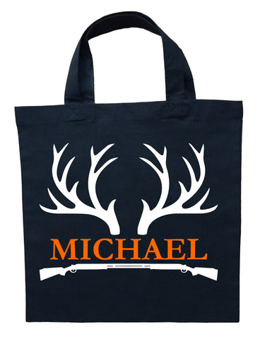 Hunter Trick or Treat Bag - Personalized Deer Hunting Halloween Bag