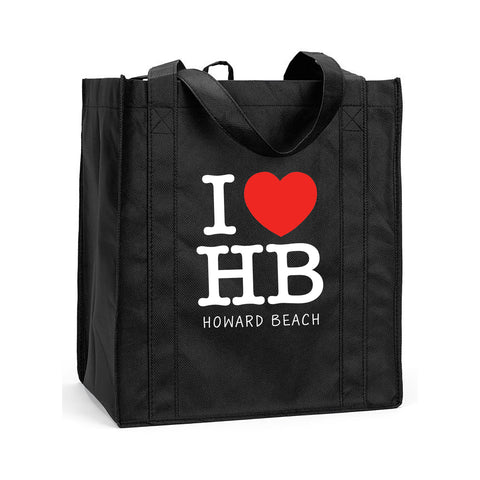 I Love HB Shopping, I Love Howard Beach Shopping Bag, I Love Howard Beach Resuasable Shopping Tote, I Love HB Reusable Grocery Bag