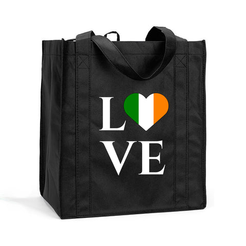 I Love Ireland Shopping Bag, I Love Ireland Grocery Bag, I Love Ireland Resuasable Shopping Tote, I Love Ireland Bag