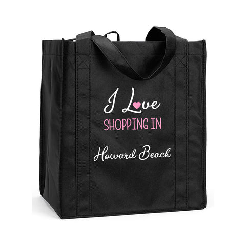 Custom Shopping Bag, Personalized Shopping Bag, Reusable Shopping Bag, Personalized Reusable Shopping Bag, I Love My State Shopping Bag, I Love Shopping Reusable Bag
